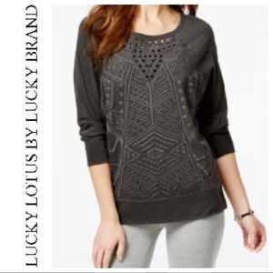 Lucky Lotus by Lucky Brand Embroidered Sweatshirt